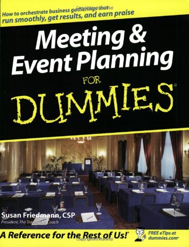 Meeting Event Planning for Dummies�   2003 edition cover