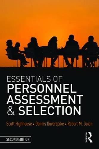 Essentials of Personnel Assessment and Selection  2nd 2016 (Revised) 9781138914599 Front Cover