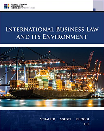 International Business Law and Its Environment:   2017 9781305972599 Front Cover