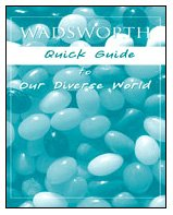 Wadsworth Quick Guide to Our Diverse World   2007 edition cover