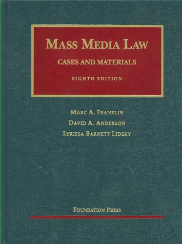Mass Media Law Cases and Materials 8th 2011 (Revised) edition cover