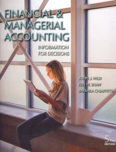 Financial and Managerial Accounting Information for Decisions 5th 2013 9780078025600 Front Cover