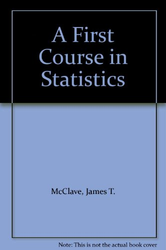 First Course in Statistics  7th 2000 edition cover