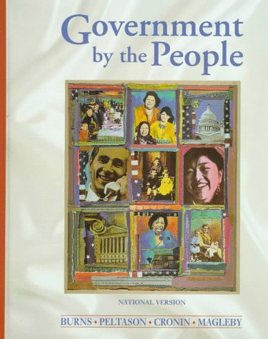 Government by the People National Version 17th 1998 9780132871600 Front Cover