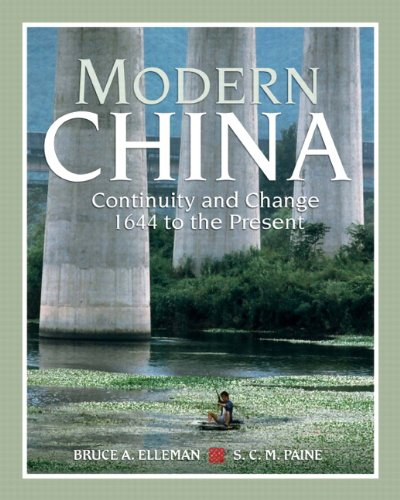 Modern China Continuity and Change, 1644 to the Present  2010 edition cover