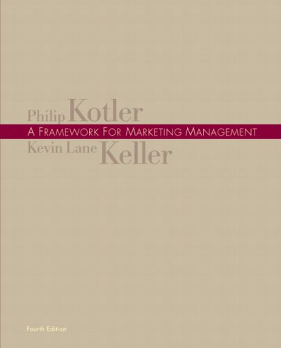 Framework for Marketing Management  4th 2009 edition cover