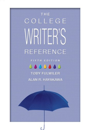 College Writer's Reference 2009 MLA Update Edition 5th 2010 (Revised) edition cover