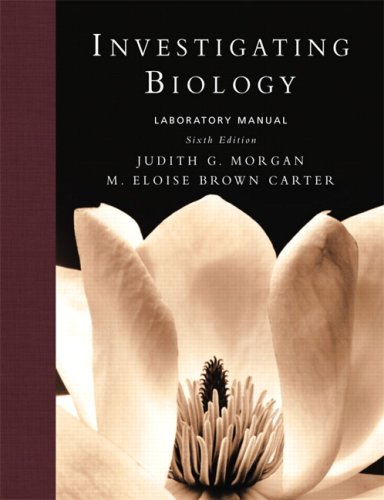 Investigating Biology Lab Manual  6th 2008 edition cover