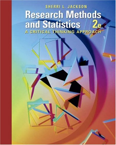 Research Methods and Statistics A Critical Thinking Approach 2nd 2006 9780534556600 Front Cover