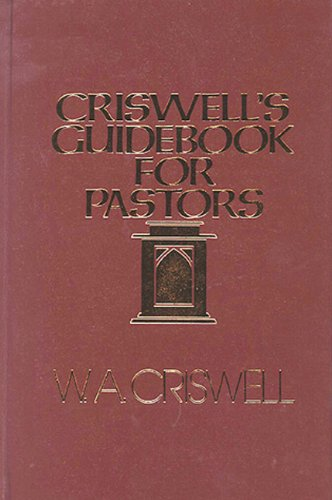 Criswell's Guide Book for Pastors  N/A edition cover