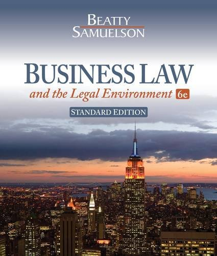 Business Law and the Legal Environment  6th 2013 9781111530600 Front Cover