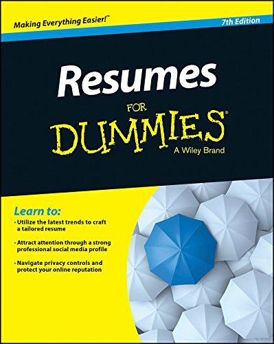 Resumes for Dummies  7th 2015 9781118982600 Front Cover