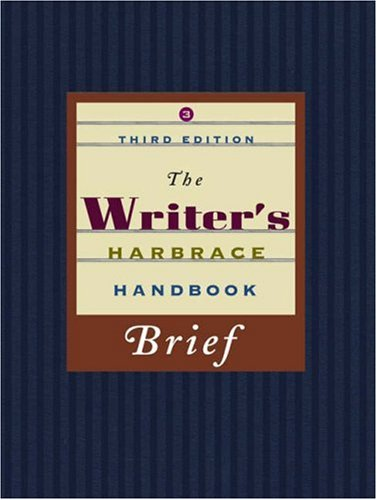 Writer's Harbrace Handbook, Brief  3rd 2008 (Revised) 9781413030600 Front Cover