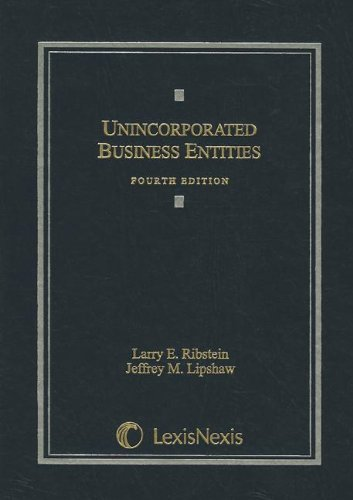 Unincorporated Business Entities  4th 2009 edition cover