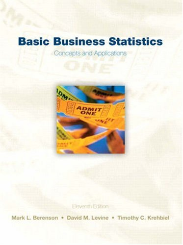 Basic Business Statistics Concepts and Applications 11th 2009 edition cover