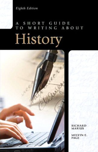 Short Guide to Writing about History  8th 2012 (Revised) edition cover