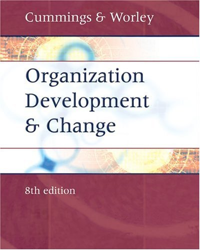 Organization Development and Change  8th 2005 edition cover