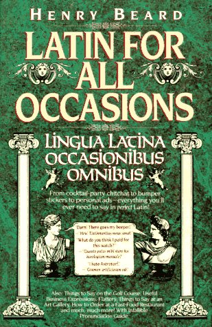 Latin for All Occasions N/A 9780394586601 Front Cover