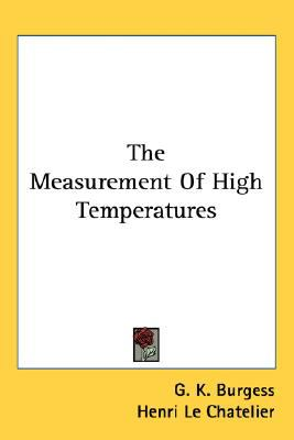 Measurement of High Temperatures N/A edition cover