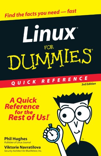 Linux for Dummies Quick Reference  3rd 2000 (Revised) 9780764507601 Front Cover