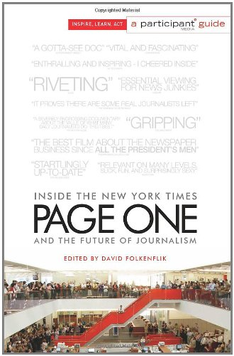 Page One Inside the New York Times and the Future of Journalism  2011 edition cover
