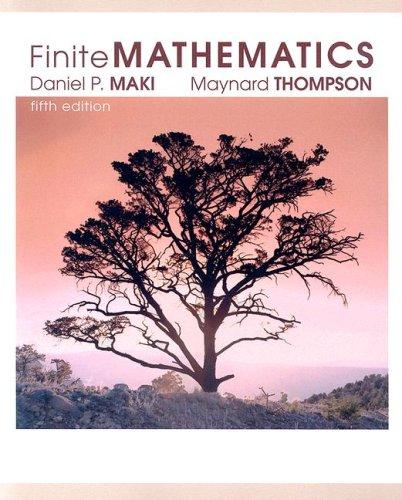 Finite Mathematics  5th 2005 edition cover