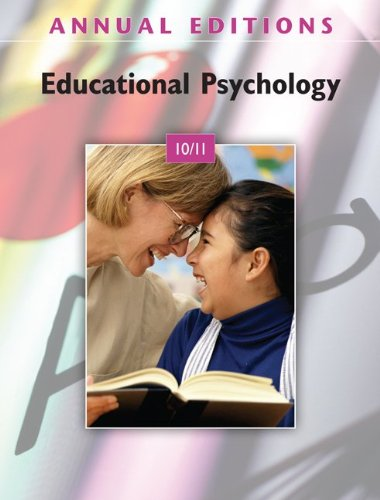 Educational Psychology 10/11  25th 2011 9780078050602 Front Cover