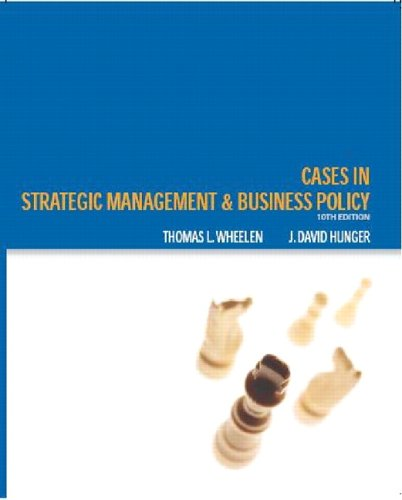 Cases Strategic Management and Business Policy 10th 2006 9780131494602 Front Cover