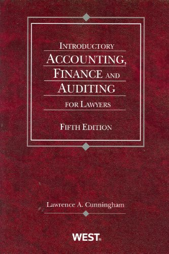 Introductory Accounting, Finance and Auditing for Lawyers  5th 2009 (Revised) edition cover