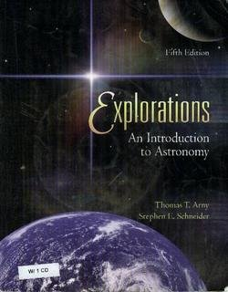Explorations INTRO to Astronom  5th 2008 edition cover