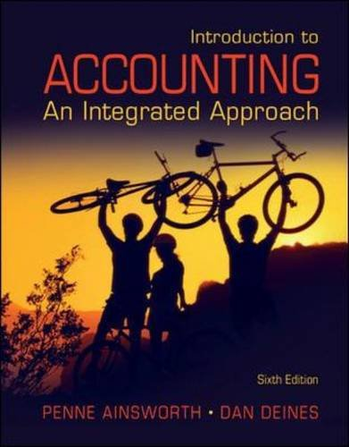 Introduction to Accounting An Integrated Approach 6th 2011 edition cover