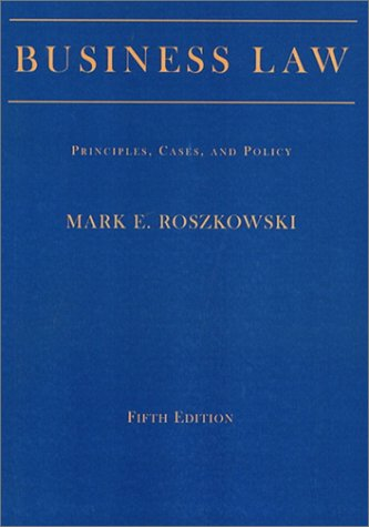 Business Law Principles, Cases, and Policies 5th 2002 edition cover
