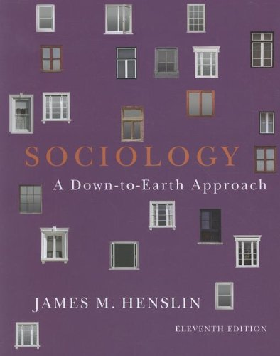 Sociology Down-to-Earth Approach 11th 2012 (Revised) edition cover