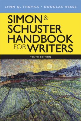 Simon and Schuster Handbook for Writers  10th 2013 (Revised) edition cover