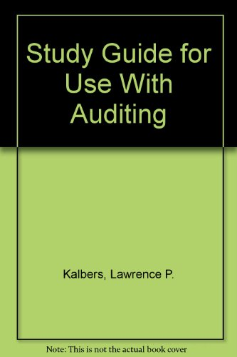 Auditing 8th 1996 (Student Manual, Study Guide, etc.) 9780256211603 Front Cover