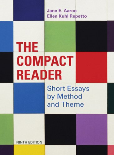 Compact Reader Short Essays by Method and Theme 9th 2011 edition cover