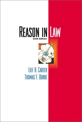 Reason in Law  6th 2002 9780321085603 Front Cover