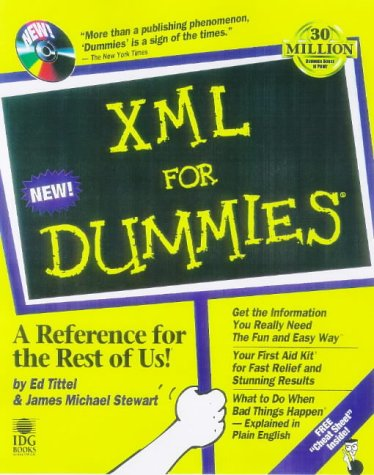 XML for Dummies   1998 9780764503603 Front Cover