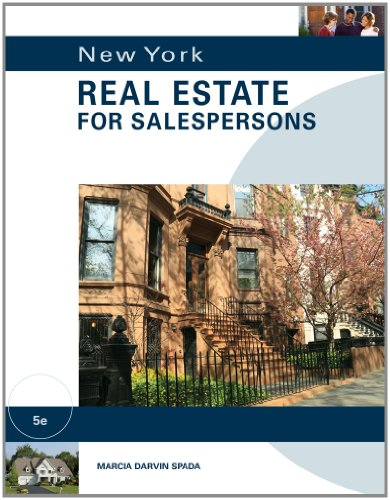 New York Real Estate for Salespersons  5th 2012 edition cover