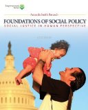 Foundations of Social Policy Social Justice in Human Perspective 5th 2015 9781285751603 Front Cover