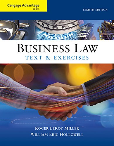 Business Law: Text and Exercises  2016 9781305509603 Front Cover