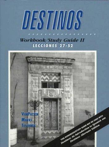 Destinos 1st 1997 edition cover