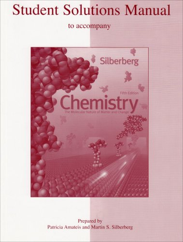 Student Solutions Manual to Accompany Chemistry : The Molecular Nature of Matter and Change 5th 2009 edition cover