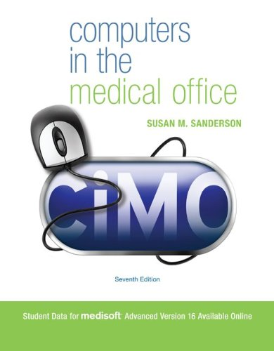 Computers in the Medical Office  7th 2011 edition cover