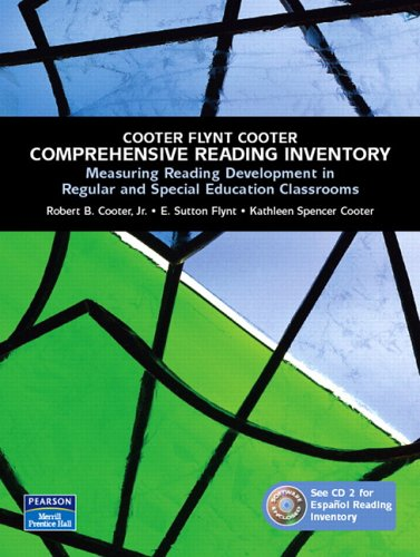 Comprehensive Reading Inventory Measuring Reading Development in Regular and Special Education Classrooms  2007 edition cover