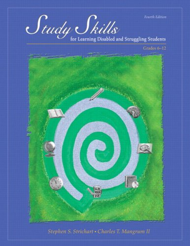 Study Skills for Learning Disabled and Struggling Students Grades 6-12 4th 2010 edition cover