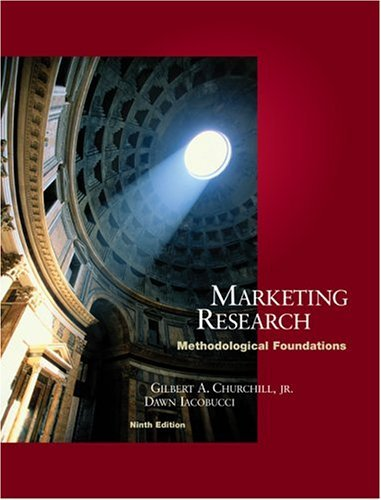 Marketing Research Methodological Foundations 9th 2005 9780324201604 Front Cover