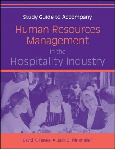 Human Resources Management in the Hospitality Industry   2009 (Guide (Pupil's)) edition cover