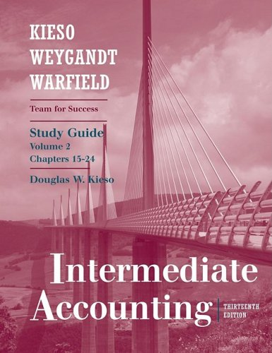 Intermediate Accounting  13th 2010 (Student Manual, Study Guide, etc.) edition cover