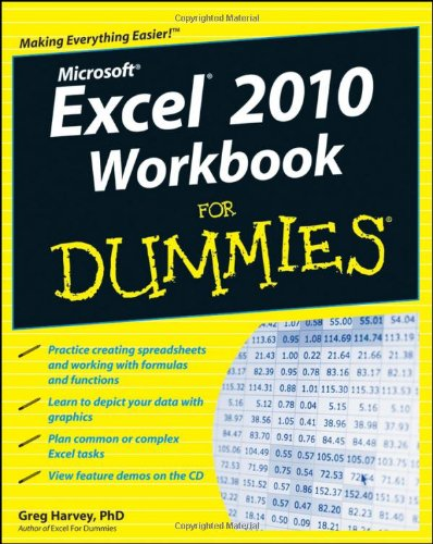 Excel 2010 Workbook for Dummies   2010 (Workbook) edition cover